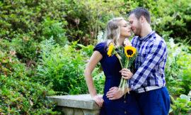 Duke Gardens Engagement | Sasha + Justin