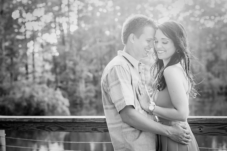 Greenfield Lake Park and Gardens Engagement | Preston + Matt