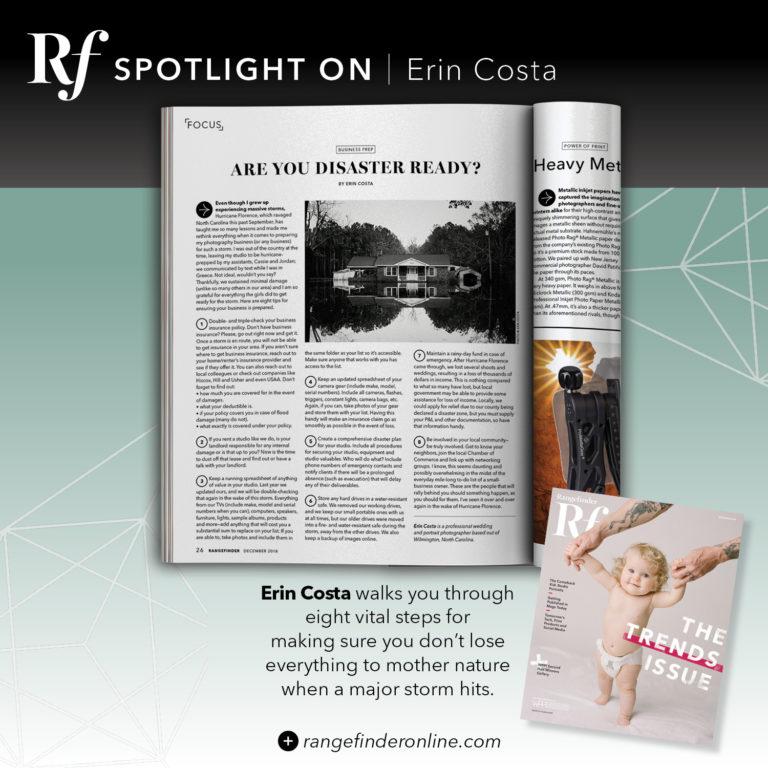 Published in Rangefinder Magazine